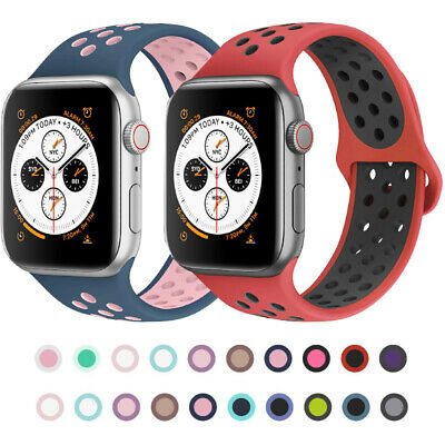 $ CDN4.99 • Buy Replacement Silicone Sport Band Wrist Bracelet Strap For Apple Watch 40/44 38/42