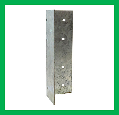 60mm X 60mm X 180mm Universal Fence Post Extender Clip Brackets Galvanised Packs • 6.60£