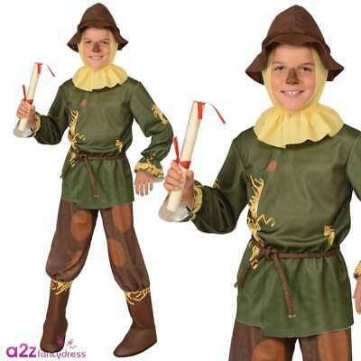 The Wizard Of Oz Scarecrow Costume Kids Licensed Dorothy Book Day Fancy Dress • 19.95£