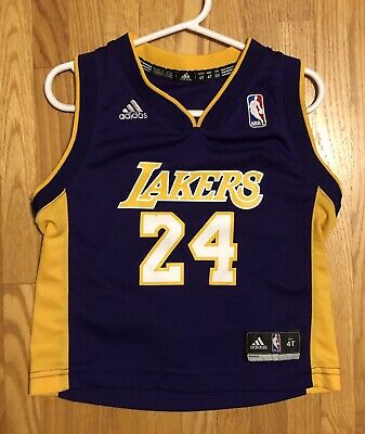 $ CDN24.99 • Buy Child NBA Adidas Lakers Kobe Bryant #24 Jersey Sz 4T