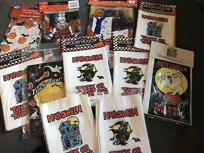 $ CDN66.04 • Buy Vintage Halloween Trick Or Treat Bags Variety Lot 90s Nineties Amscan Etc NOS