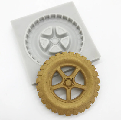 £3.25 • Buy Wheel Silicone Fondant Mould Cake Decorating Paste Sugar Topper Chocolate Mold