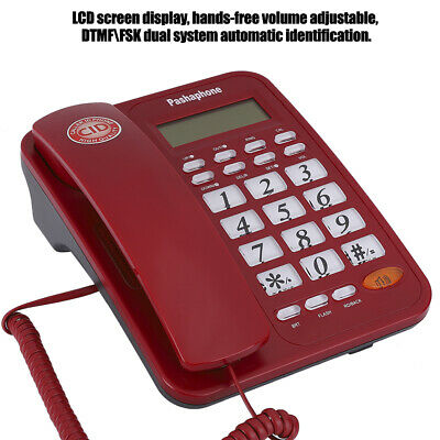 Corded Desktop Phone Landline Telephone With Caller ID For Home Office Hotel • 18.30£