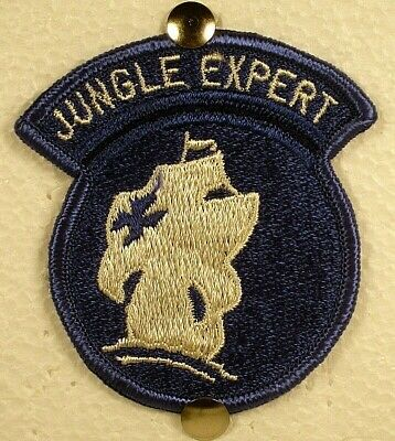 US Army Full Color Jungle Expert Patch Insignia Badge Award Obsolete V2 • 5.48£