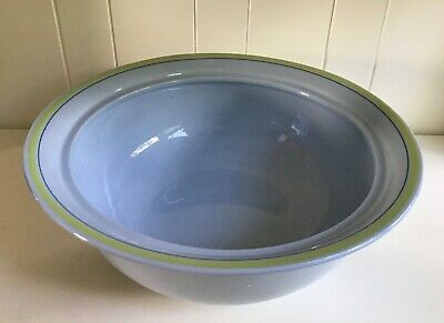 $24.99 • Buy Petrus Regout Maastricht Holland Serving Bowl Blue With Green Rim Handpainted