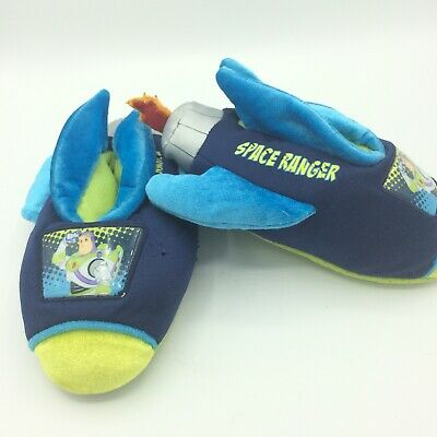 £10.89 • Buy Toy Story Slippers Boys 9-10 House Shoes Space Ranger Rocket Flames