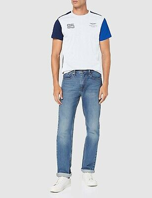 Hackett London Aston Martin Racing Logo T-Shirt, White/Navy/Blue • 35£