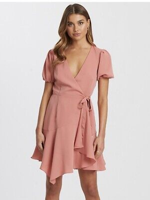 AU35.99 • Buy Size:16 (New)Lovely Flattering Dusty Pink Wrap Cocktail Party Dress Hunter