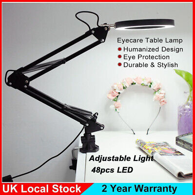 Adjustable Reading Light Clip On Usb Desk Lamp Clamp LED Bed Table Bedside Night • 12.99£