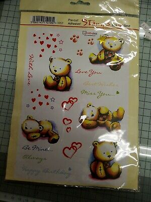A5 Set Of Clear Teddy Bear Stamps • 4.99£