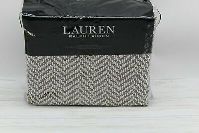 Ralph Lauren Home Dorian Herringbone 3-Pc KING Duvet Cover Set Cotton Brown $385 • 111.36£