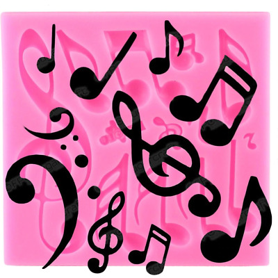 £5.64 • Buy Music Silicone Molds Musical Notes Cupcake Topper Fondant Cake Decorating Tools