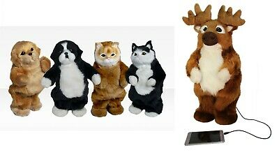 $15.99 • Buy Party Animal Speaker Dancing Pet Cat Dog Moose 3.5mm Wired - Battery Powered