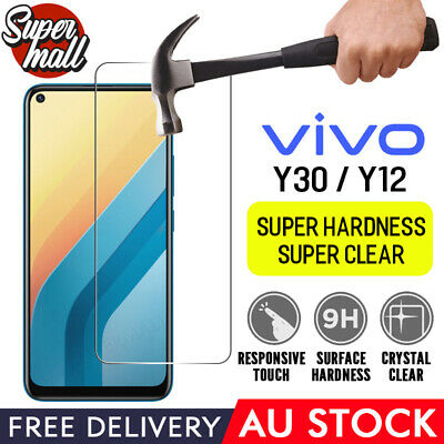AU2.99 • Buy For Vivo Y30 Y12 9H Tempered Glass Screen Protector Film Coverage Anti Scratch