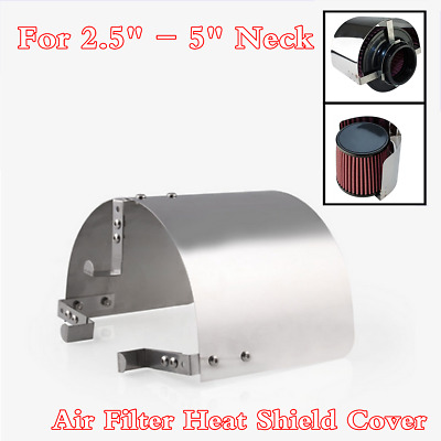 $21.99 • Buy Stainless Steel Heat Shield Cover Kit For 2.5'' - 5  Cone Cold Air Intake Filter