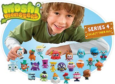 6 Packs Of Moshi Monsters Series 4 Moshling Collectable Figure BRAND NEW IN PACK • 6£