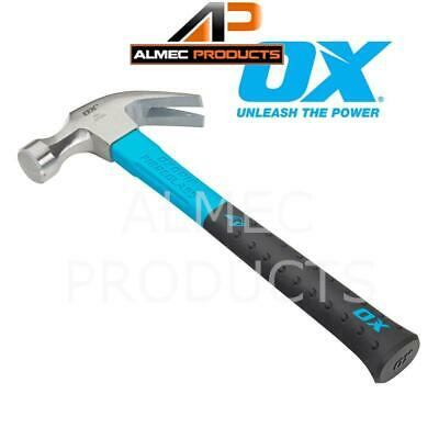 OX Tools 20oz Claw Hammer Durable And Lightweight Fiberglass Handle OX-P081620 • 13.67£