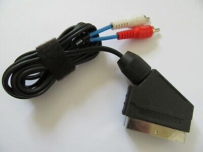 1.5m SCART Plug To 2 X Twin RCA Male Phono Stereo Audio Cable Lead • 3.95£