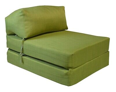 £29.99 • Buy LIME Fold Out Futon Single Guest Z Bed Chair Folding Mattress Sofa Bed Gilda