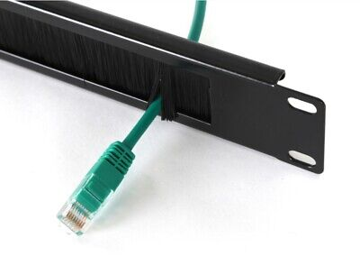 """Cable Management Brush Tidy Bar 1U 19"""" Network Rack! Thick • 7.39£"""