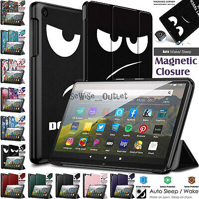 £6.96 • Buy Case For Amazon Kindle Fire HD 8 /HD 8 Plus 2020 Leather Smart Stand Flip Cover
