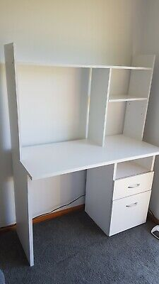 AU75 • Buy White Desk With Drawers And Shelves