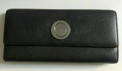 AU25 • Buy OROTON Genuine Black Leather Trifold Wallet With Clear Window Card Display