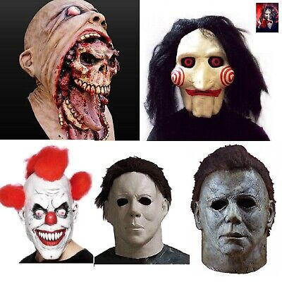 £6.99 • Buy Adult Halloween Latex Bloody Mask Zombie Clown Horror Scary Saw Billy Cry Mask