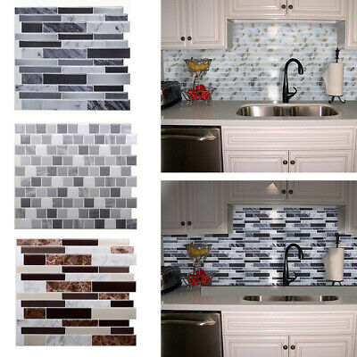 3D Kitchen Wall Tiles Self-Adhesive Bathroom Mosaic Sticker Peel Stick Decal UK • 5.95£