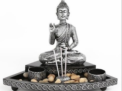 £24.99 • Buy Buddha Incense And Tealight Garden Meditating Holder Aroma Candle Present Gift