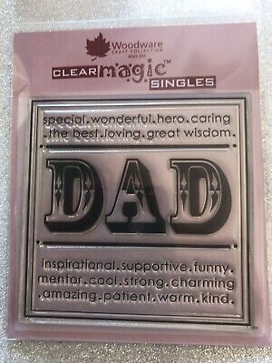 £4.50 • Buy Woodware Clear Stamps- Dad