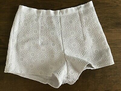 Topshop Ladies White Summer Shorts Size 10 • 2.10£
