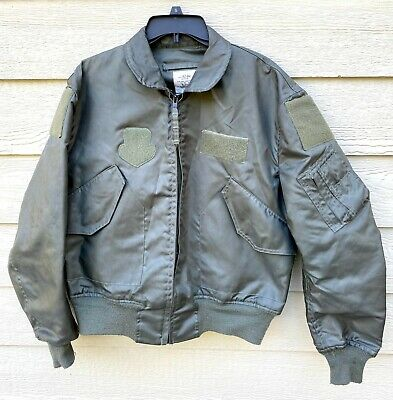 $ CDN183.53 • Buy Genuine Usaf Green Nomex Fire Resistant Summer Flyers Jacket Cwu-36/p - Large