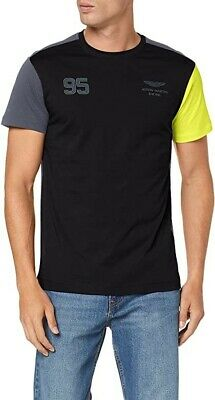 Hackett London Aston Martin Racing Logo T-Shirt, Black/Grey/Lime • 35£
