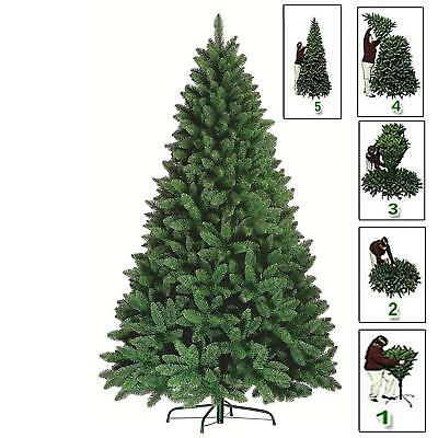 7ft Green Christmas Xmas Tree Pine Metal Stand Tips Spruce  • 29.99£