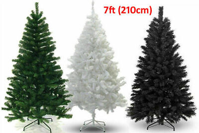 5ft 6ft 7ft Deluxe Christmas Tree Green Colorado Luxury Artificial Pine XmasTree • 29.99£