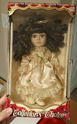 $ CDN10.03 • Buy Brunette Porcelain Doll - Small New In Box