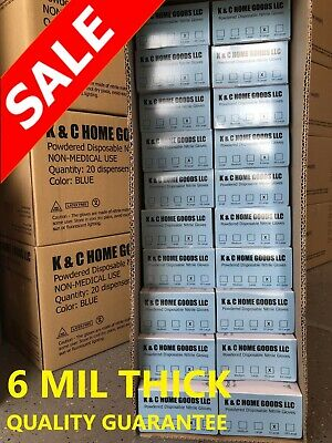 $ CDN290.28 • Buy 6 MIL THICK HEAVY DUTY 1000 LIGHTLY POWDERED Textured Nitrile Glove Blue Durable