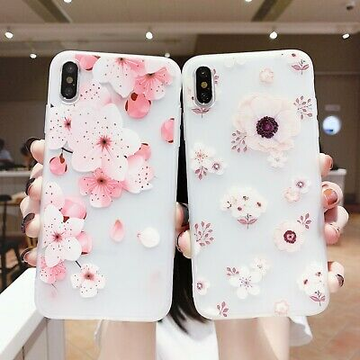 AU5.95 • Buy Frosted Hot Fashion Girl Women Lovely Flower Soft Case Cover For Various Phone