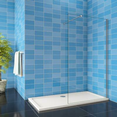 £96.31 • Buy Walk In Shower Enclosure Wet Room Easy Clean NANO Glass Screen Panel Stone Tray