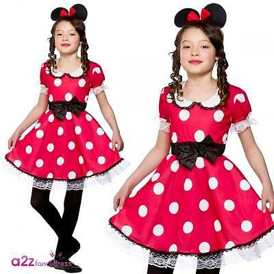 £11.95 • Buy Girls Cute Mouse Girl Costume Childs World Book Day Minnie Spotty Fancy Dress