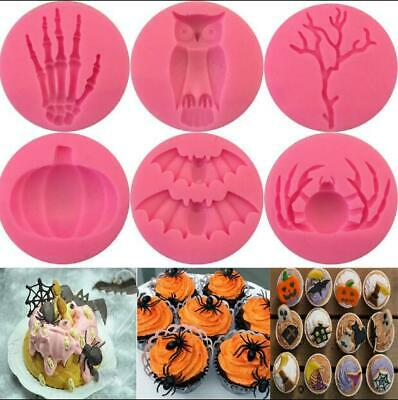 Silicone Halloween Fondant Mold Cake Topper Chocolate Baking Sugarcraft Mould • 3.25£