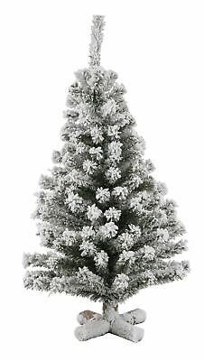 Table Top Frosted Christmas Tree With Wooden Base 35cm Tall • 8.49£