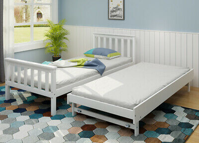 £139.99 • Buy 2 In 1 Day Bed Pull Out Trundle 3FT Bed Frame Daybed Guest Kid Adult Bedroom UK