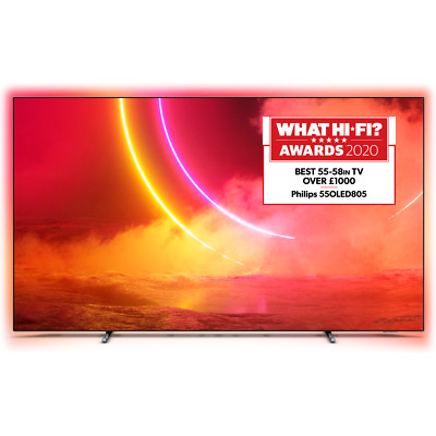 Philips TPVision 55OLED805 55 Inch TV Smart 4K Ultra HD Ambilight OLED Freeview • 1,199£