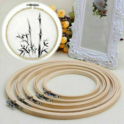 £8.31 • Buy 3x Cross Stitch Machine Embroidery Hoop Ring Nature Bamboo Sewing Frame 10-34cm