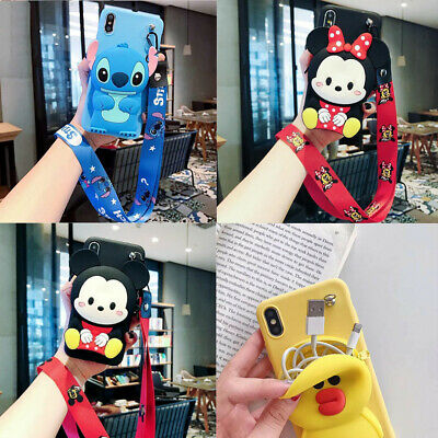 AU8.09 • Buy Classic Hot Cute Cartoon Anime Wallet Lanyard Silicone Phone Case Cover For OPPO