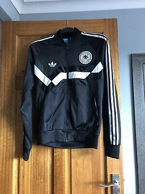 Adidas Originals Germany Track Top MEDIUM Retro Very Rare Football Track Top • 35£