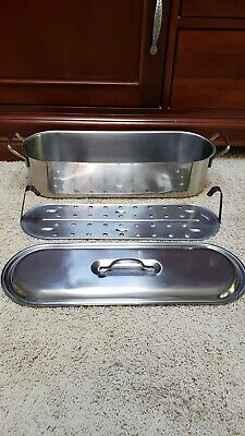 $35 • Buy INOX Fish Poacher 18/C V I S Aluminum W/ Tray 18