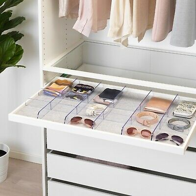 Wardrobe Closet Divider Organiser For Pull Out Tray Drawer KOMPLEMENT 100x58cm • 25£